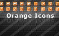 25 Orange Icons verschieden Symbole und Zahlen 32×32 als .png  + 972 mal runtergeladen.