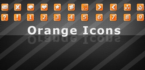 25 Orange Icons verschieden Symbole und Zahlen 32×32 als .png  + 1018 mal runtergeladen.