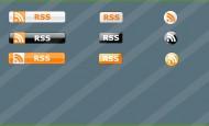 9 RSS Buttons in verschiedenen Farben als .png  + 799 mal runtergeladen.