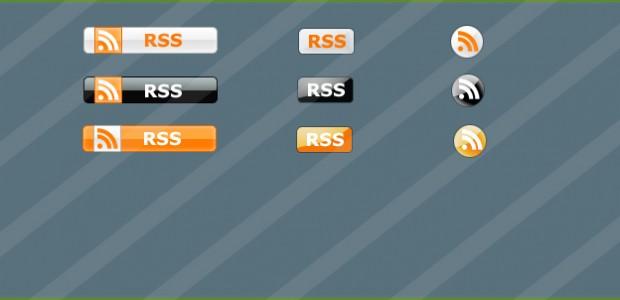 9 RSS Buttons in verschiedenen Farben als .png  + 968 mal runtergeladen.