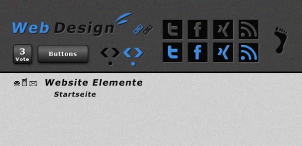 Moderne Webseiten Elemente zum kostenlosen Download für deine Webseite.  + 835 mal runtergeladen.