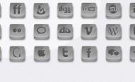 21 Silber Social Icons als.png zum kostenlosen Download. Die Icons sind mit einem Schlagschatten hinterlegt.  + 778 mal runtergeladen.
