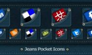 Jeans Pocket Icons als.png zum kostenlosen Download. Ein Rohling der Tasche liegt als .psd dabei, so kannst du selber was in die Tasche packen.  + 884 mal runtergeladen.