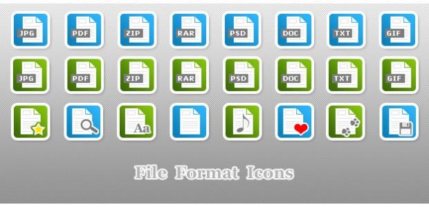 File Format Icons als.png zum kostenlosen Download. Alle Icons sind in grün und blau im Set enthalten. Ein leeres Icon für eigene Symbole liegt bei.  + 833 mal […]