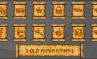 Old Paper Icons als.png zum kostenlosen Download. Auf alt gemachte Papierrolle mit Symbolen. Eine leere Rolle für eigene Symbole liegt bei.  + 847 mal runtergeladen.