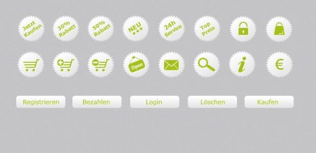 E-Commerce Icons als.png zum kostenlosen Download. Plus passende Buttons zu den Free Icons.  + 818 mal runtergeladen.