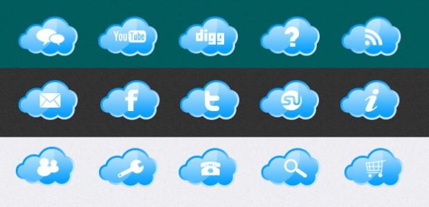 Free Cloud Icons mit verschiedenen Symbolen. Die Icons sind eine kleine abwandlung von unserem Wetter Icons. Eine andere Version der Cloud Icons sowie andere Icons und Templates finden sie […]
