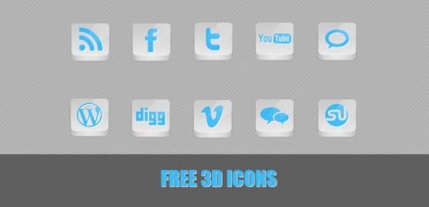 Free 3D Icons in weiß/Blau. In der .rar Datei befinden sich 10 kostenlose Icons, die frei verwendet werden können.  + 1047 mal runtergeladen.