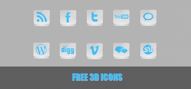 Free 3D Icons in weiß/Blau. In der .rar Datei befinden sich 10 kostenlose Icons, die frei verwendet werden können.  + 1077 mal runtergeladen.
