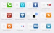Free Social Media Icons mit Hover Effekt. Die Icons liegen als .png vor und richtig eingebaut ergibt es einen schönen Effekt.  + 921 mal runtergeladen.