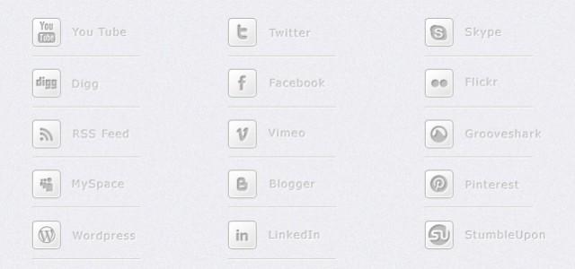 Free Social Media Icons in Grau / Weiß. Die Icons liegen als .png vor sind 32×32 pixel groß.  + 1130 mal runtergeladen.